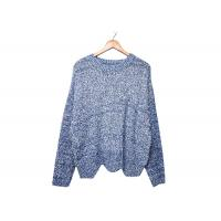 Round Neck Womens Knit Sweater Pleuche Irregular Knitted OEM / ODM Service Manufactures
