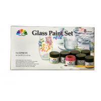 Non - Toxic Art Painting Colours 8 Pcs Glass Paint Set 8X15ml 20 Light Fast Colours Manufactures