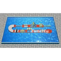 Inflatable Water Park , Inflatable Water Obstacle Course Size 20 x 6m used in Steal Frame Pool Manufactures
