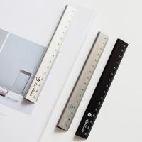 Quality 30cm  Length Silver Color Alkali Anodized Aluminum Ruler for Realia Made in China for sale