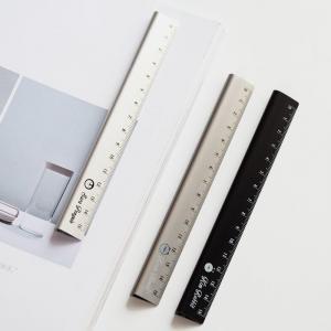 Quality Silver 30cm Aluminium Extrusion Profiles Alkali Anodized Aluminum Ruler for sale