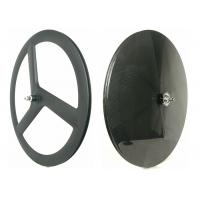 Quality 700C Front 3 Spoke Carbon Disc Wheel T700 High Stiff For Track / Fixed Gear Bike for sale