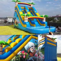 Summer Inflatable Slides Inflatabe Water Slides With Pool Manufactures