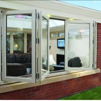 Double panel folding glass windows prefabricated windows and doors Manufactures