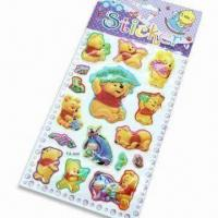 Foam and PVC Stickers with Glitter Gold Power, Customized Designs are Accepted Manufactures
