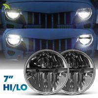 Auto 7 Inch Headlight Car Accessories 15 W 30 W Silver / Black Color Manufactures
