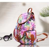 Teenager Girls Canvas Fashion Ladies Backpack Floral Design For Short Trips Manufactures