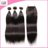7A 4 pcs Virgin Straight Hair Can Be Mixed Length Malaysian Straight Hair with Closure Manufactures