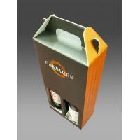 Matte Lamination Corrugated Cardboard Wine Boxeswith Handle 8 * 4.5 * 12 Inch Manufactures