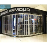 3m Height 2.5mm Foldable Glass Doors For Shopping Malls Manufactures