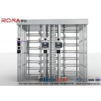 Double Lane Full Height Turnstile 304 Stainless Steel Turnstiles CE Approved Manufactures