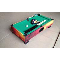 China Attractive Kids Play Mini Game Table Color Graphics Design Wood Pool Table on sale