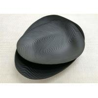 Quality Imitation Porcelain Dinnerware Sets Korean - style Plate Black Color Ripple Finish for sale