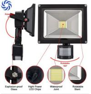 Quality COB High Lumen Solar Powered Flood Lights Motion Sensor For Outdoor Decor for sale