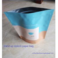 Dry Food Foil Ziplock Bags / Craft Paper Bags With Gravure Printing Manufactures