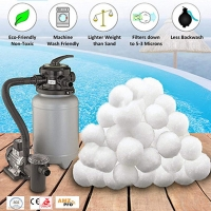 Polyester Staple Fiber Aquarium Filter Media Balls For Sand Filter Manufactures