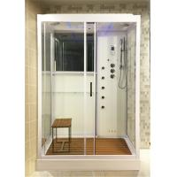 Buy cheap White Glass Shower Cabin Complete Shower Stalls With Brass Jets Computer Control from wholesalers