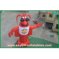 China Lobster Inflatable Character , Customized Moving Inflatable Mascot on sale