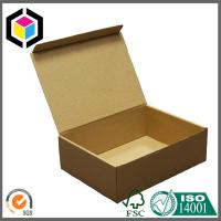 Plain Brown Kraft Color Paper Corrugated Carton Shipping Package Box Manufactures