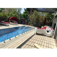 Spigot Tempered Clear Frameless Glass Railing Pool Fence 316/304 Stainless Steel With Gate Manufactures