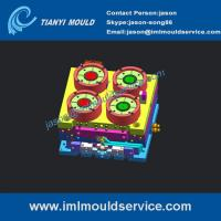 Quality iml product of 500g cover molds, iml plastics lid moulds, iml injection mould china for sale