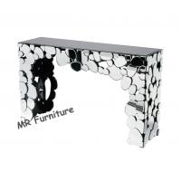 Pebbles Interiors Mirrored Hall Console Tables , Hotel Hallway Mirrored Sofa Table Manufactures