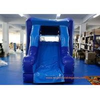 Safety Blue PVC Commercial Inflatable Water Slides For Children Manufactures