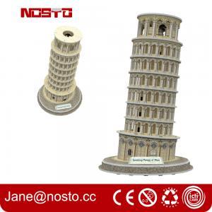 Architectural models of famous buildings , 3D puzzle souvenir leaning tower of pisa Manufactures