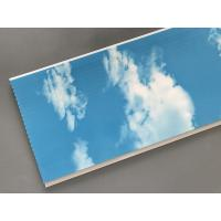 Hot Stamping 250 × 7mm Ceiling PVC Panels  With Blue Sky And White Clouds Manufactures