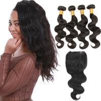 Grade 8A Brazilian Human Hair Weave Bundles Without Chemical Process Manufactures