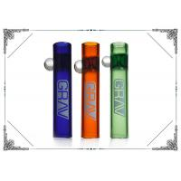 3 Inches Thick Smoking Glass Tube Chillum Mini Pipes with GRAV LOGO Manufactures