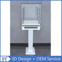 Quality Free 3D design modern fashion wooden tempered glass display cabinets with 4 pcs for sale