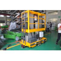 Both AC&DC Power Supply 14m working height Aluminum Aerial Work Platform Double Mast Manufactures