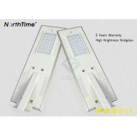 Motion Sensor All In One Solar LED Street Light With LiFePO4 Battery Manufactures
