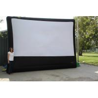 Giant Advertising Inflatable Movie Screen Durable PVC Tarpaulin With Good Tension Manufactures