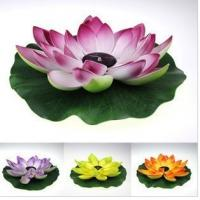 Buy cheap Multi-Color RGB Garden Pool Floating Lotus Leaf Solar Powered LED lamp Flower from wholesalers