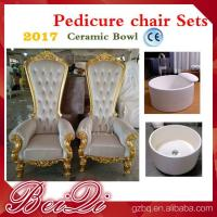 Buy cheap high back wedding chairs king throne pedicure chair foot spa equipment furniture from wholesalers