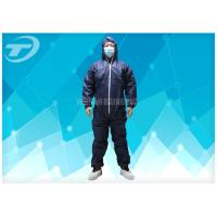 Waterresistance Elastic Cuffs Disposable Coverall Suit PE Coated PP Fabric Manufactures