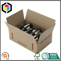 Quality Red Wine Bottle Corrugated Shipping Box; Flexo Color Print Shipping Box for sale