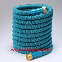 2017 Expandable Garden hose,50FT Best garden hose with brass quick coupling, green color expanding water hose Manufactures