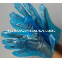 Embossed Disposable gloves, Blue color, Size S,M,L Manufactures