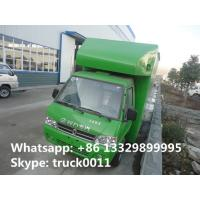 Quality Bottom price mini DongFeng mobile food truck for sale, cheapest price gasoline mobile fast food vending truck for sale for sale