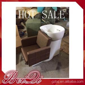 Quality Luxury shampoo bowl chairs hair washing massage shampoo chair salon furniture for sale