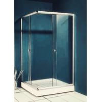 77 inch 900x900 Square Shower Enclosure , Enclosed Shower Cubicles Top Double Rollers