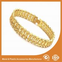 Fashion Jewelry OEM Men Wide Metal Chain Bracelet 18k Gold Chain Radiation Protection Manufactures