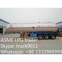 factory direct sale best price triple axles 48700L DME lpg gas trailer, high quality 27tons DME lpg gas trailer for sale Manufactures