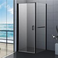 800x800 Black Bathroom Shower Enclosures , Square Shower Kit with Towel Rack Manufactures