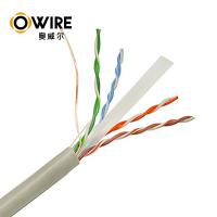 China Custom Bulk Cat6 Patch Cables , 305m 23awg Pass Fluke Test Ethernet Lan Cable Cat6 on sale