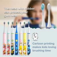 Waterproof Kids Electric Toothbrush , Usb Charging Baby Electric Toothbrush Manufactures