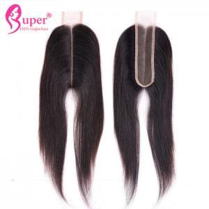 22 Virgin Hair Closures , Lace Closure 2x6 Bleached Knots Hair Weave